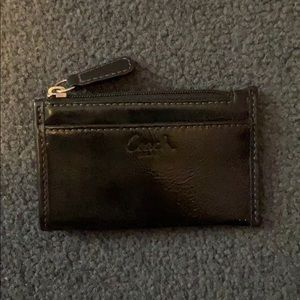 Coach Black Card Wallet Coin Purse